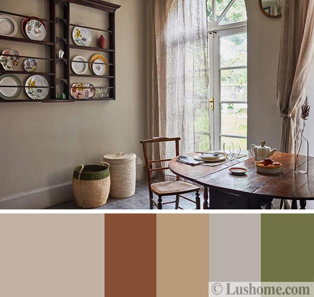 Dining Room Color Schemes: Gorgeous Interior Color Schemes, Fall Botanical Collection