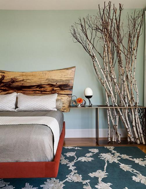 recycling tree branches in interior design