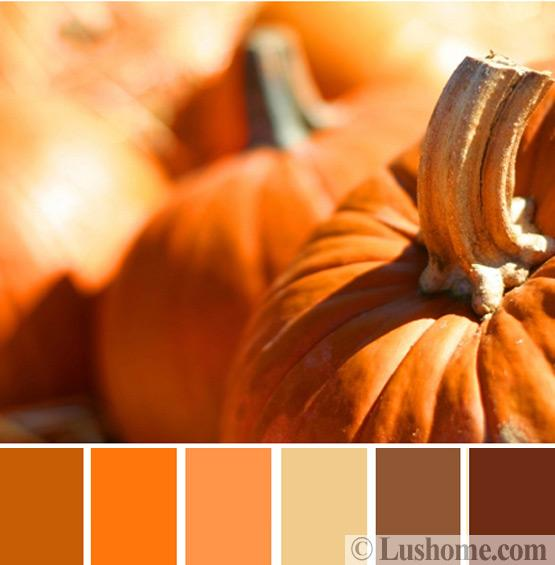Light Yellow Paint Color Palette: Pumpkin Color Palette , Warm Hues And Fall Decorating Ideas