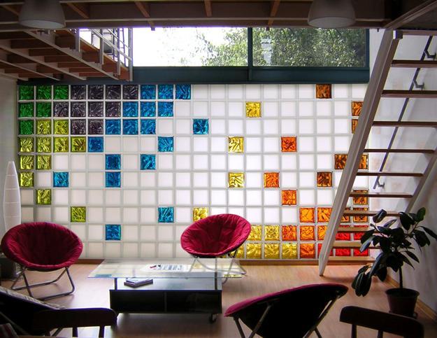 glass block designs of exterior walls infusing natural. Black Bedroom Furniture Sets. Home Design Ideas