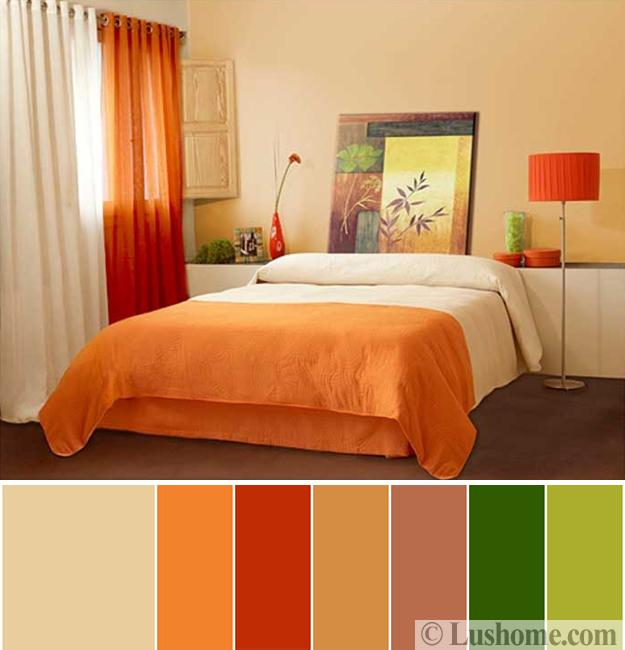 Bedroom Color Combinations: 5 Beautiful Orange Color Schemes To Spice Up Your Interior