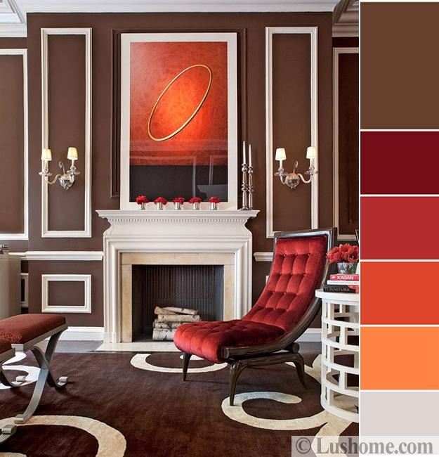Color Combinations Living Room Design With Brown