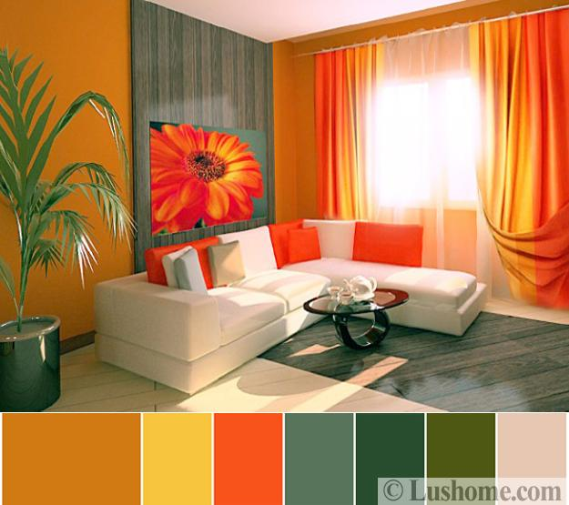 Stylish Orange Color Schemes For Vibrant Fall Decorating