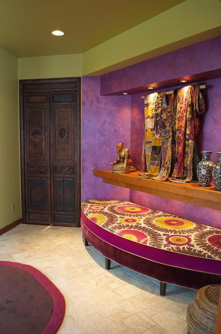 purple and burgundy red colors in interior design