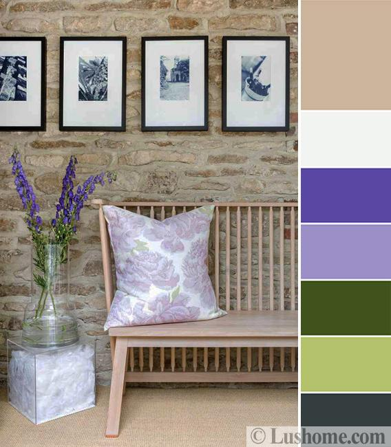Purple And Green Room Decorating Color Scheme Inspired By Delphinium Flowers