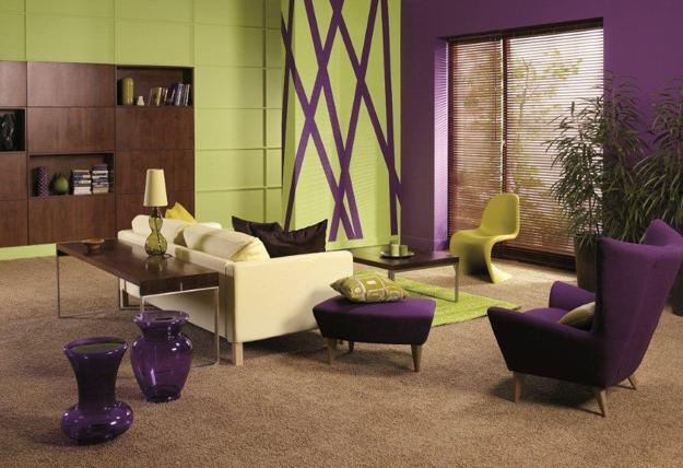 Kids Room Design In Green And Purple Colors Cool Warm Mauve Hues