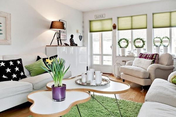 remarkable modern purple living room | Pink, Purple and Green Color Schemes, 20 Modern Interior ...