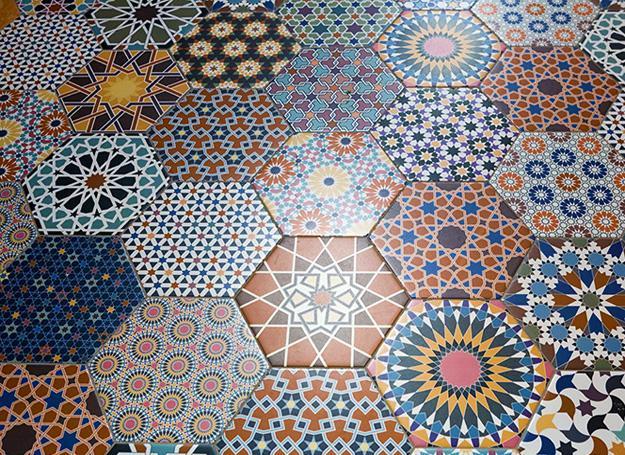 Hexagon Tile Bathroom Black And White