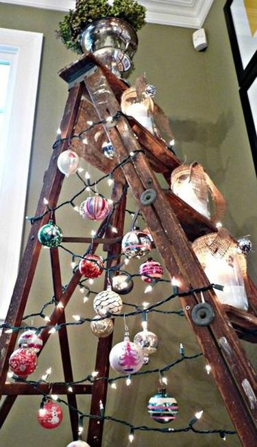 Alternative Christmas Tree Designs Turning Step Ladders