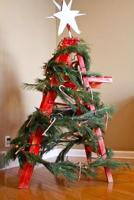Alternative Christmas Tree Designs Turning Step Ladders