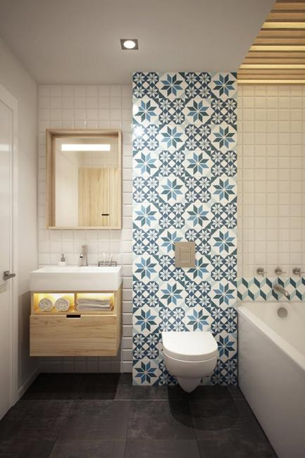 Small Bathroom Tiles Old Design Trends Making Their Comeback - Modern bathroom tile design images