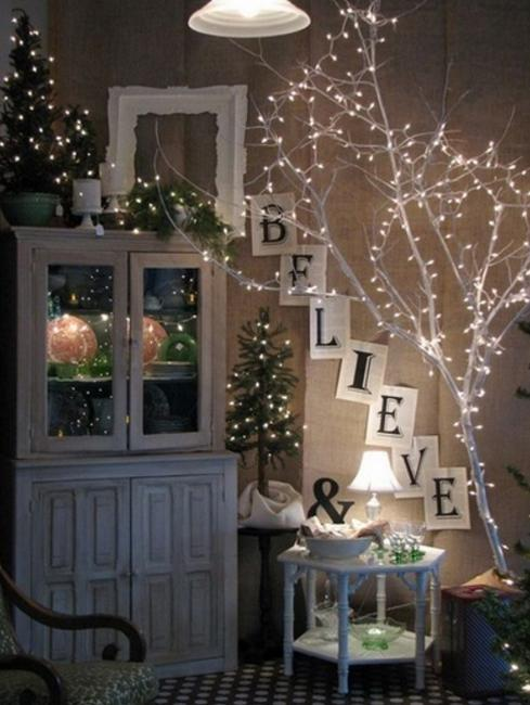 christmas lights for branches decorating