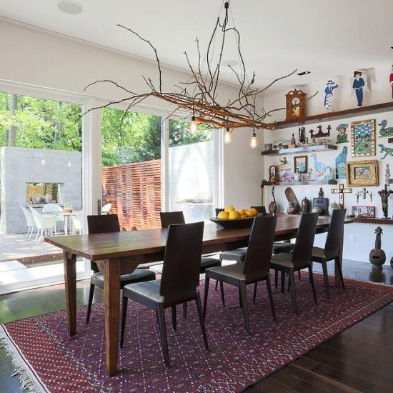 Dining Room Decorating Branch Chandelier
