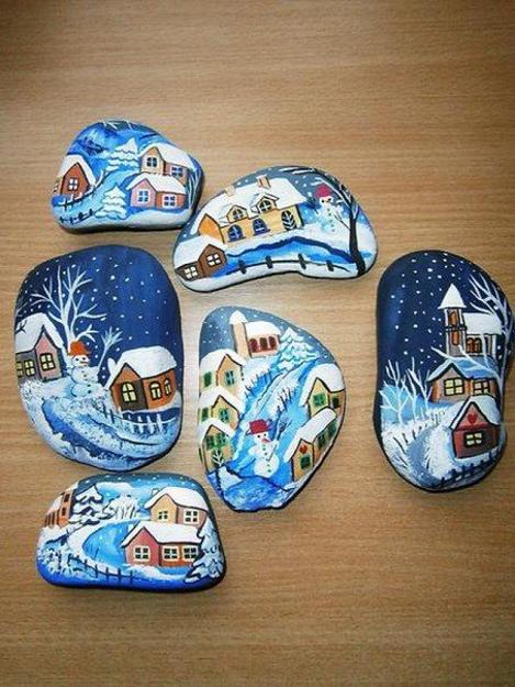 Winter Rock Painting Ideas Budget Friendly Christmas Gifts And Home Decorations