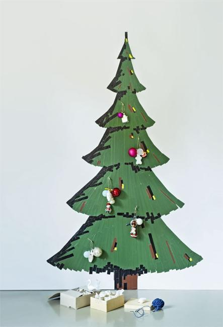 alternative christmas trees on walls