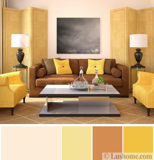 Brown Grey Teal Living Room