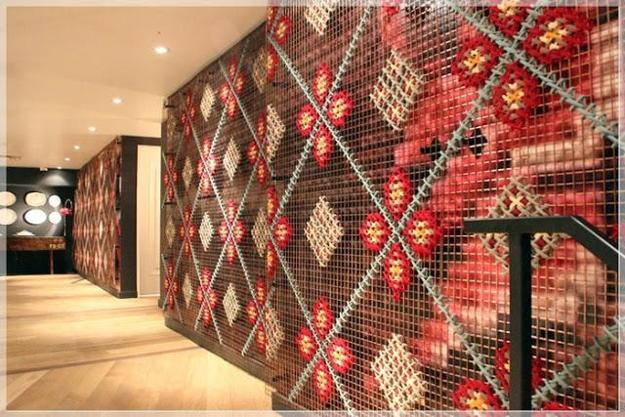 Contemporary Embroidery In Modern Interior Decorating