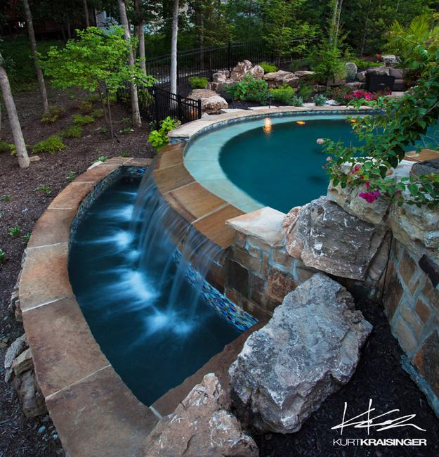 Above Ground Pool Landscaping Ideas Pictures: Negative Edge Pool Designs And Spillover Waterfalls