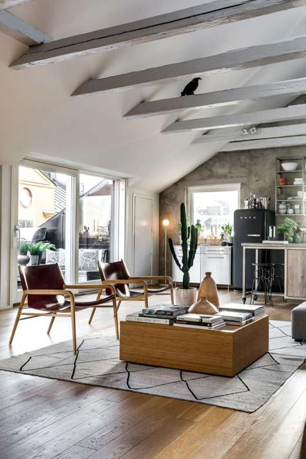 Beautiful loft design celebrating bright home interiors in scandinavian style Celebrating home home interiors