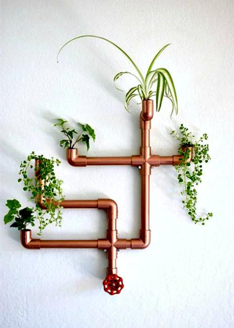 Unique Wall Decorations Diy Planters Recycling Copper Pipes