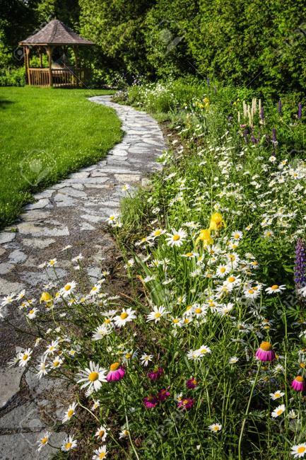 Painted Rock Garden Landscaping