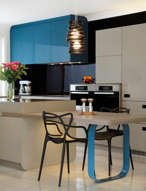 Stylish Hues To Accentuate Modern Kitchen Designs In