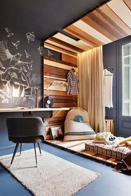 wood wall and ceiling designs
