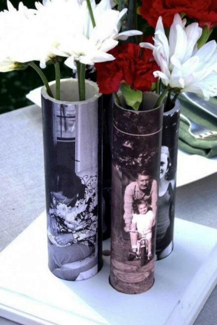 handmade vase with pictures