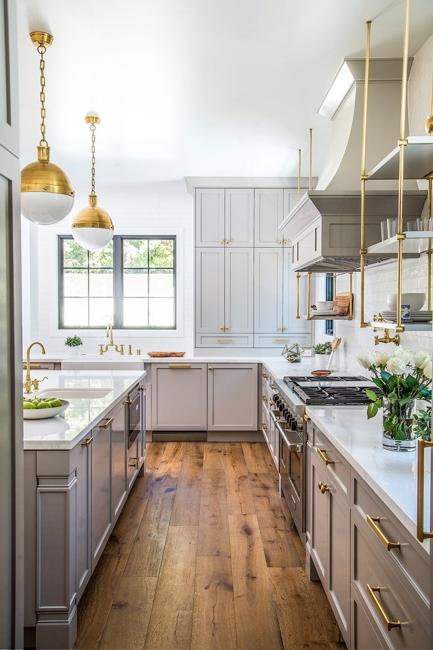 Superbe Modern Kitchen Colors, Beige And Natural Wood Shades