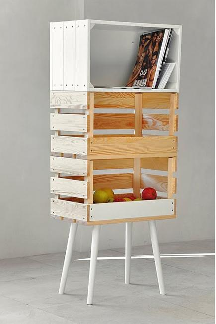 storage furniture wood boxes