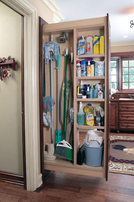 Sliding Home Organizers For Mops And Brooms Space Saving