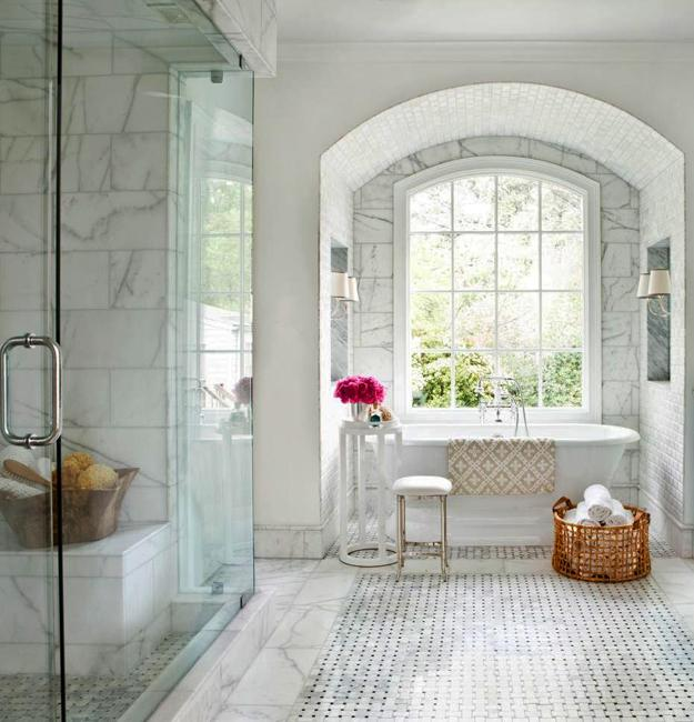 Discover The Latest Bathroom Color Trends: White Bathroom Design, Trends In Decorating With Neutral Colors
