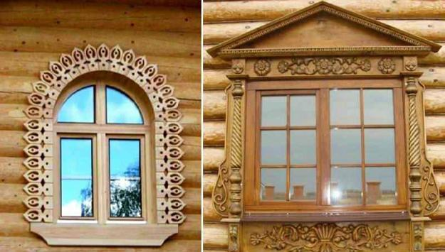 Decorative Wooden Windows House Exteriors In Traditional