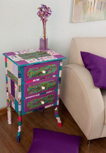 hand painted wood furniture