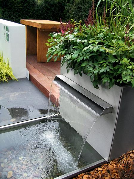 contemporary water fountain