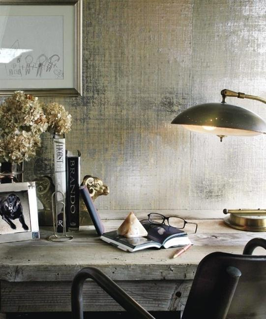 silver metalic wallpaper
