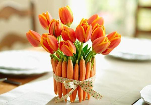 Carrots And Flower Arrangements Creative Alternatives To