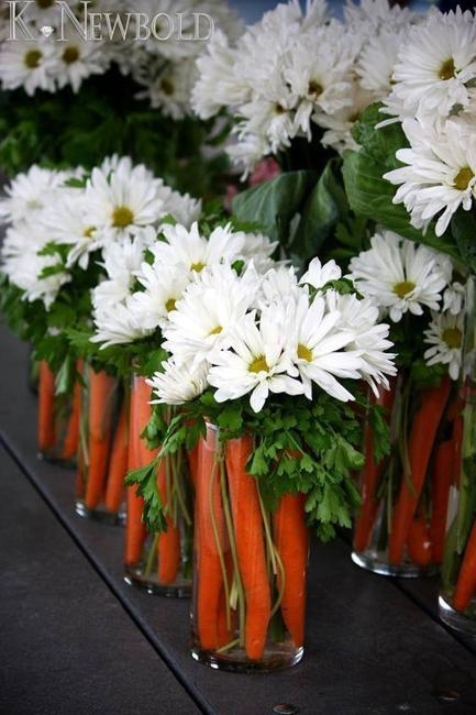 Carrots and Flower Arrangements, Creative Alternatives to ...