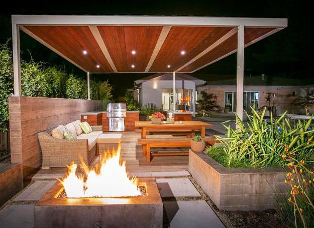 Modern Outdoor Kitchen Designs Beautiful Dining Areas Under Roofs