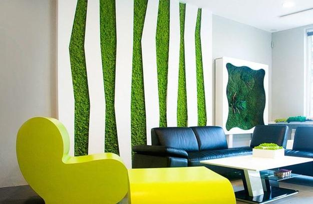 Benefits Of Accent Wall Design With Moss Stunning Green Ideas For