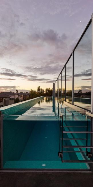 rooftop glass pool
