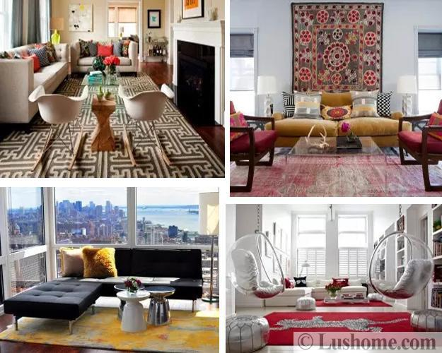 latest trends in decorating living rooms modern floor rugs