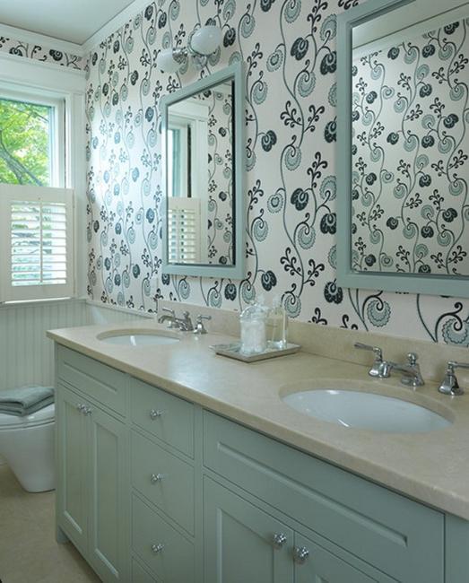 Modern Wallpaper Designs, Waterproof Ideas For Bathroom