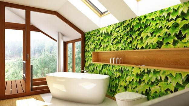 Modern Wallpaper Designs Waterproof Ideas For Bathroom Wall