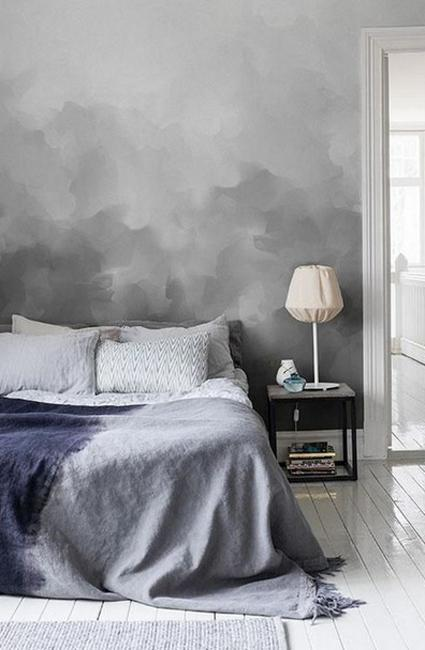 modern wall painting in gray