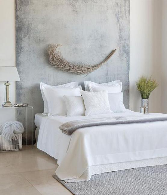 Accented Neutral Color Scheme Bedroom: Gray Color Combinations And Accent Hues For Modern Bedroom