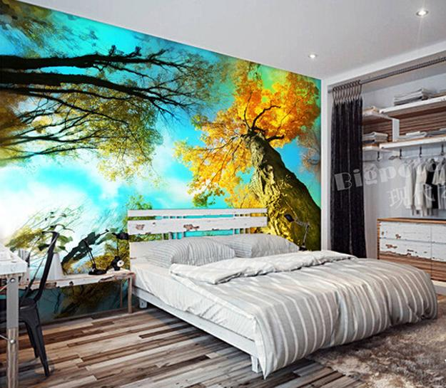 Tree Wall Decorations Adding Romantic Vibes To Modern Bedroom Designs