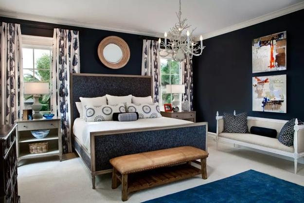 Bedroom Decorating With Black Wallpaper 2 Modern Wall