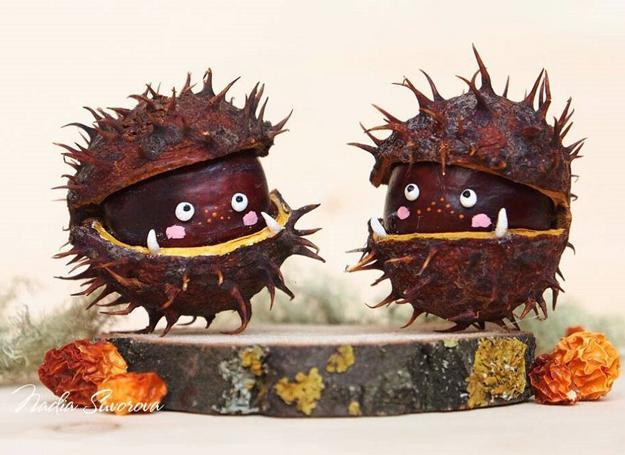 Fun Fall Crafts Chestnuts Halloween Decorations And Craft