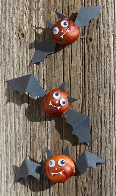Fun Fall Crafts, Chestnuts Halloween Decorations And Craft ...